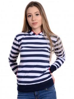 Bluză de marinar pentru femei cu glugă