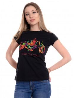 Tricou negru de yoga