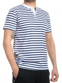 Tricou marinară cu nasturi
