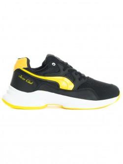 Adidași pentru bărbați în negru și galben