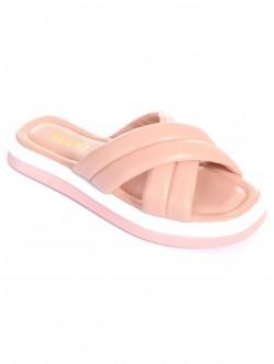 Papuci de dama colorati - roz