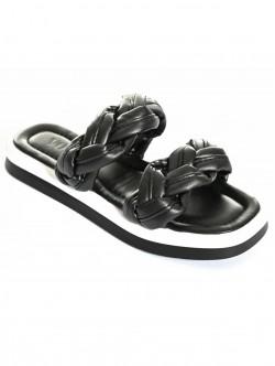 Papuci de dama împletiți- negru