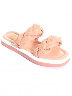 Papuci de dama împletiți