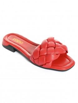 Papuci rosii pentru femei - scazut