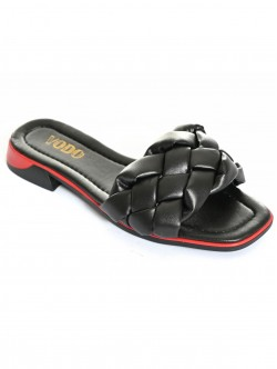 Papuci negri pentru femei - scăzut