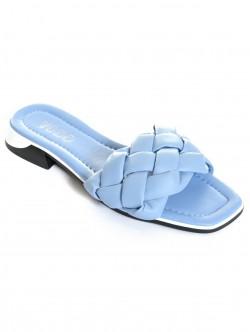 Papuci albastru deschis de damă - scăzut