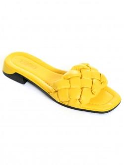 Papuci de damă galbeni - scăzut
