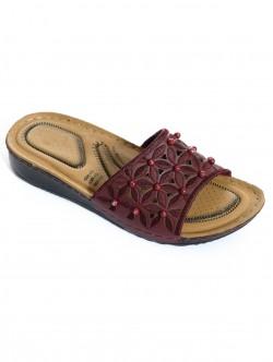 Papuci cu margele - roșii
