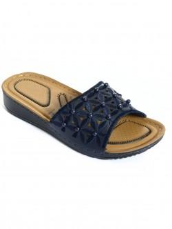 Papuci cu margele - albastru