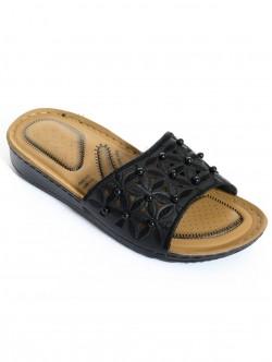 Papuci cu margele - negru