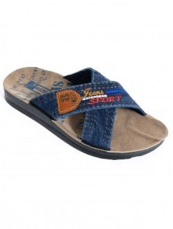 Papuci din denim pentru bărbați