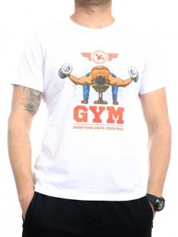 Tricou pentru fitness alb