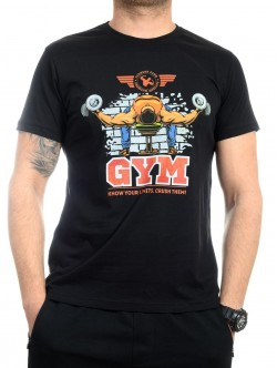 Tricou pentru fitness negru