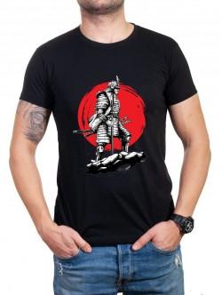 Tricou bărbătesc negru cu războinic
