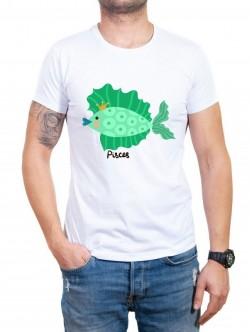 Tricou bărbătesc în două culori Pești