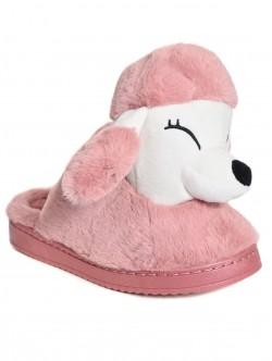 Papuci pudel în roz