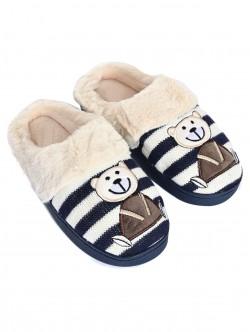 Papuci cu ursuleți de pluș - albastru