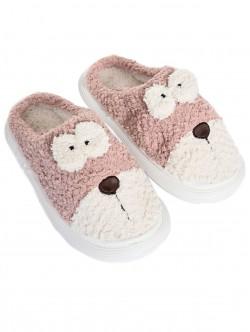 Papuci pufoși pentru câini în roz