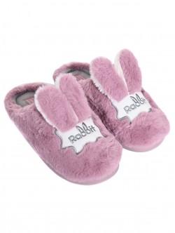 Papuci - iepuri în roz