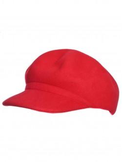 Basca de lână pentru femei în roșu