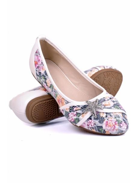 Pantofi Stele albi