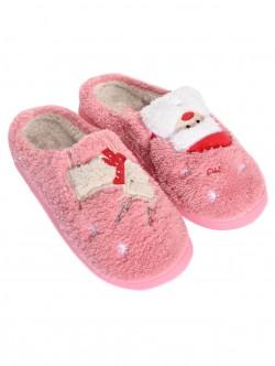 Papuci de Crăciun roz