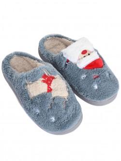 Papuci gri de Crăciun