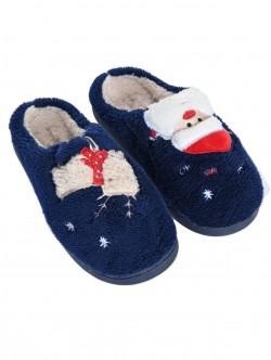 Papuci de Crăciun albastru