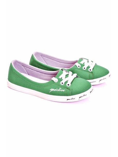 Pantofi Fany verde